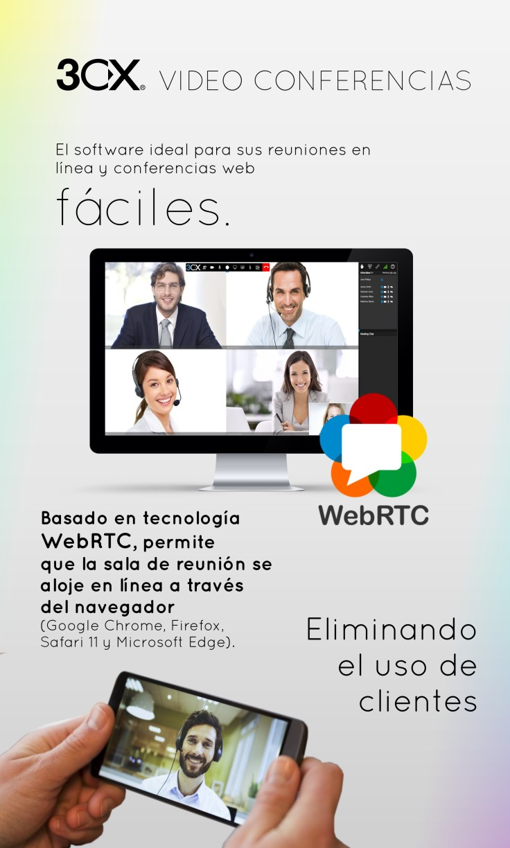 Videoconferencias web software 3CX